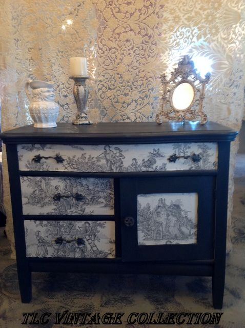 30 best annie sloan fabrics images on pinterest painted furniture from the annie sloan european fabric collection charcoal toile on drawers and door with graphite gumiabroncs Image collections
