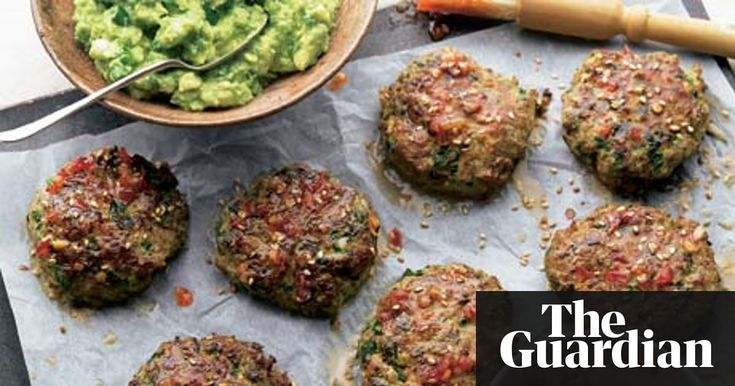 turkey and courgette fritter with wasabi guac (ottolenghi)