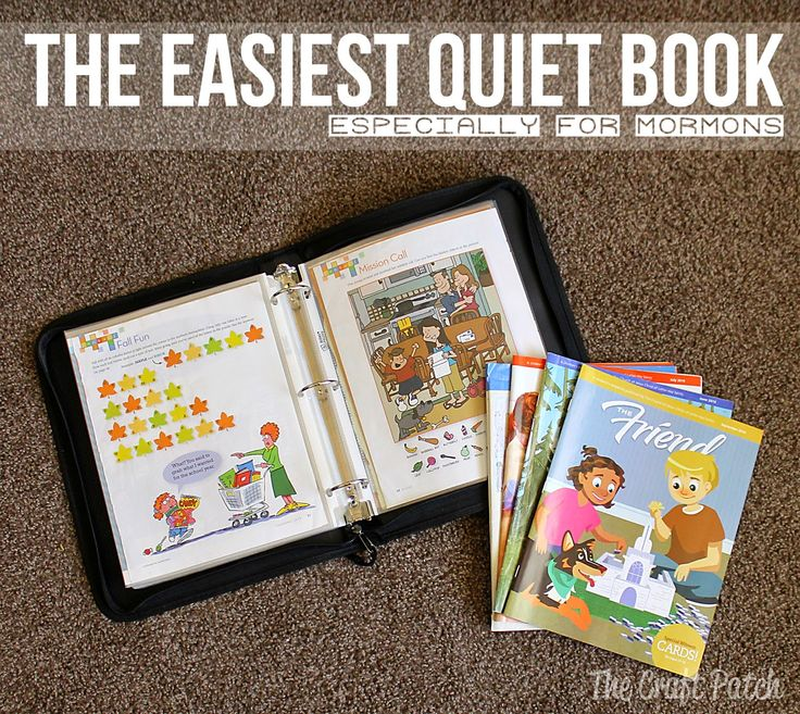 The Easiest Quiet Book (Especially for Mormons) No crafting skills required!