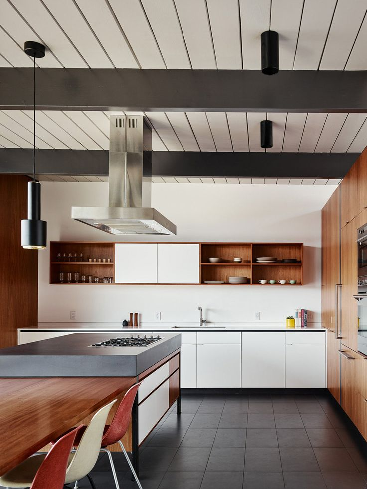 eichler update by michael hennessey white stovemodern kitchensmid - Modern Kitchens