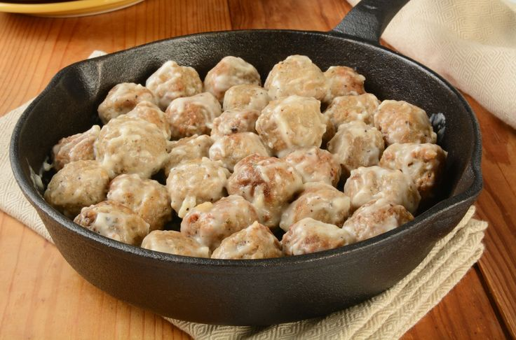Restaurant-Inspired Recipe: Creamy Ikea Swedish Meatballs- Follow #SightApp and save an entire article or recipe by 1 screenshot (Check How: https://itunes.apple.com/us/app/sight-save-articles-news-recipes/id886107929?mt=8