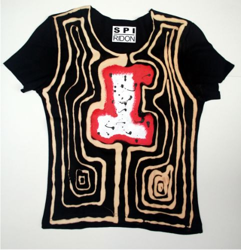 code 0225 ladies hand painted t-shirt