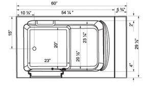 Standard Bathtub Dimensions Inches