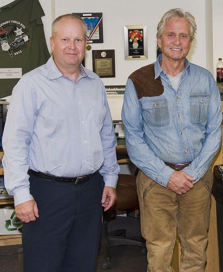 Deputy Chief Keith McPheeters and Michael Douglas