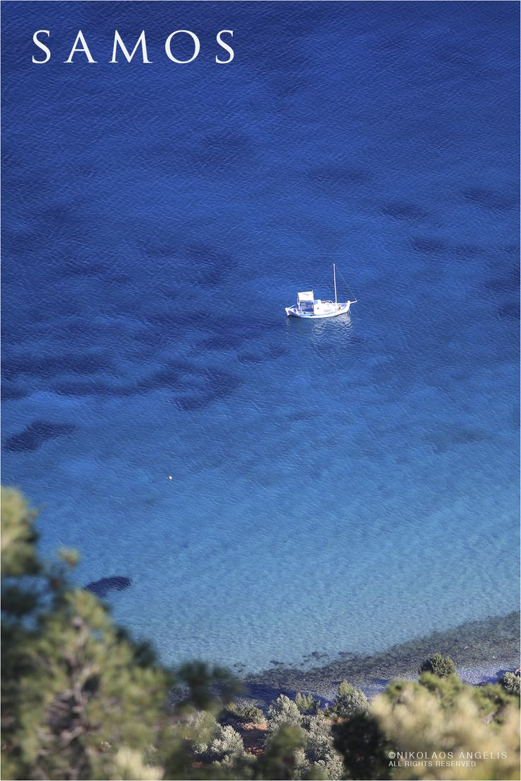beautiful coastline with little fishing boat