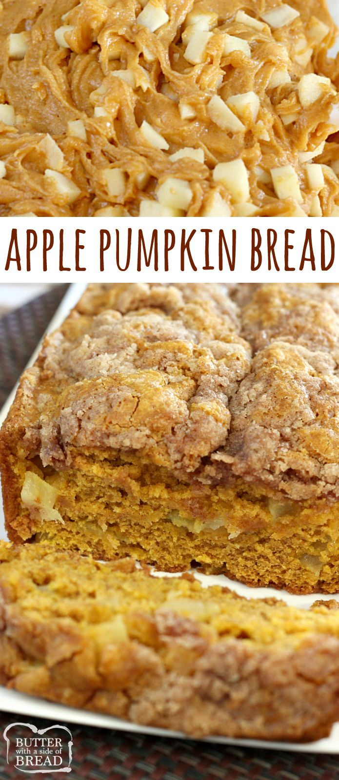 Apple Pumpkin Bread is the perfect blend of two favorite fall flavors  – pumpki…