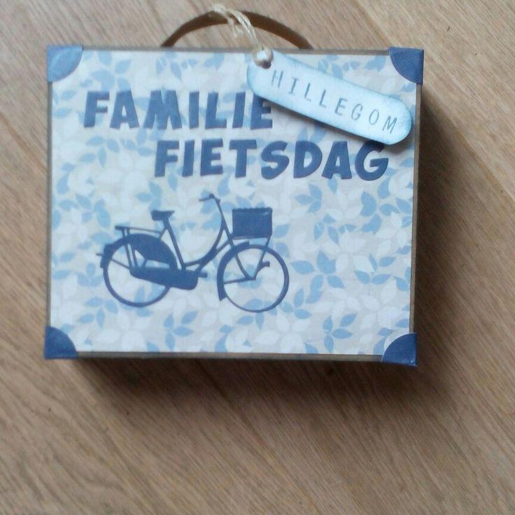 Als dank voor degene die de fietsdag hadden georganiseerd, gevuld met 2 tubes douchegel!