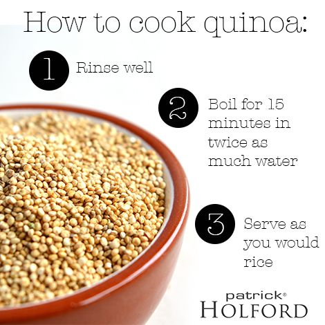 "Patrick Holford on quinoa ""it's about as close to a perfect food as you can get"". Here's how to prepare it?"