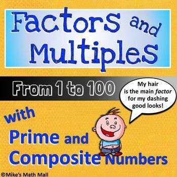 As a matter of Factor, this is a very fun and comprehensive lesson bundle that completely covers the 4th grade CCSS for Gaining Familiarity with Factors and Multiples from 1 to 100 (and prime and composite numbers). This lesson is optimal for reinforcing multiplication and division facts.