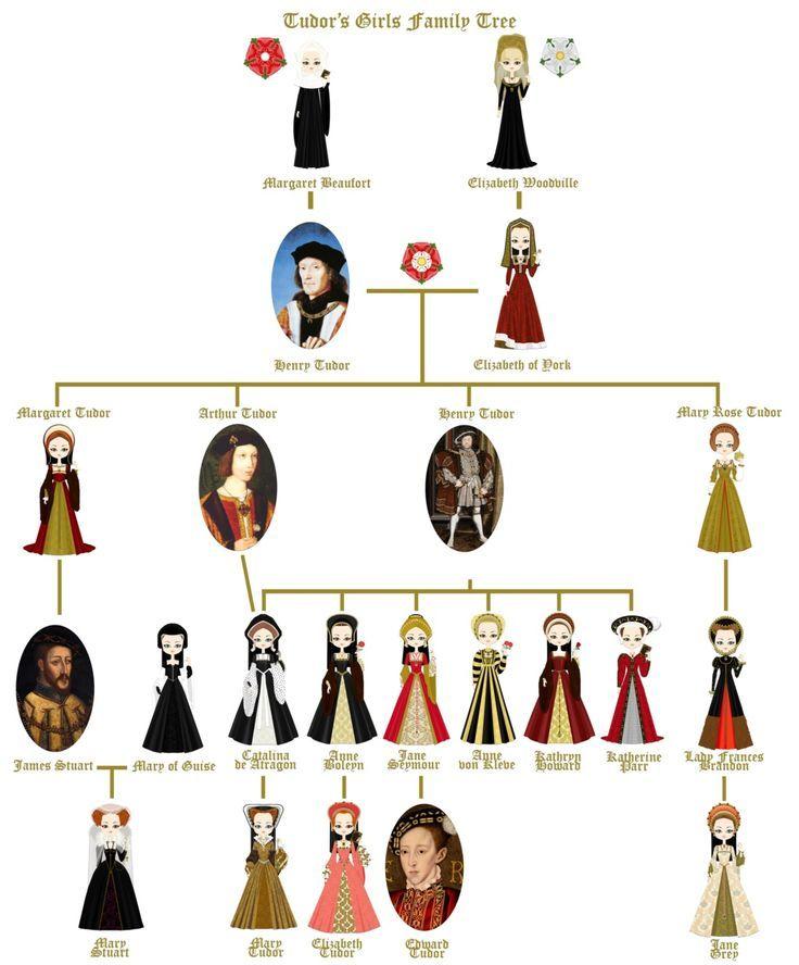 Henry Viii Family Tree : henry, family, Henry, Family, British, History, Tudor, History,, Tree,