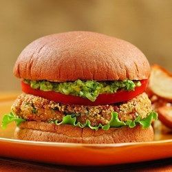 Bean Burgers with Spicy Guacamole - EatingWell.com