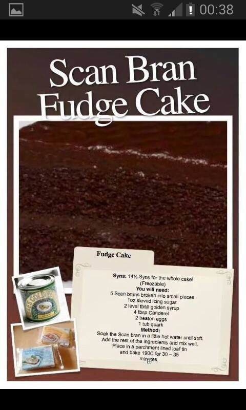 Scan bran fudge cake #slimmingworld