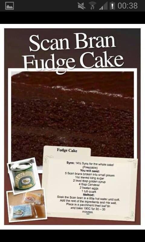 Scan bran fudge cake #slimmingworld