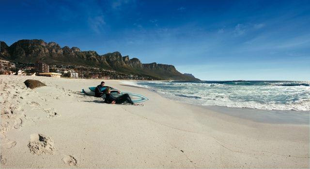 Surfers at the beach at 12 Apostles