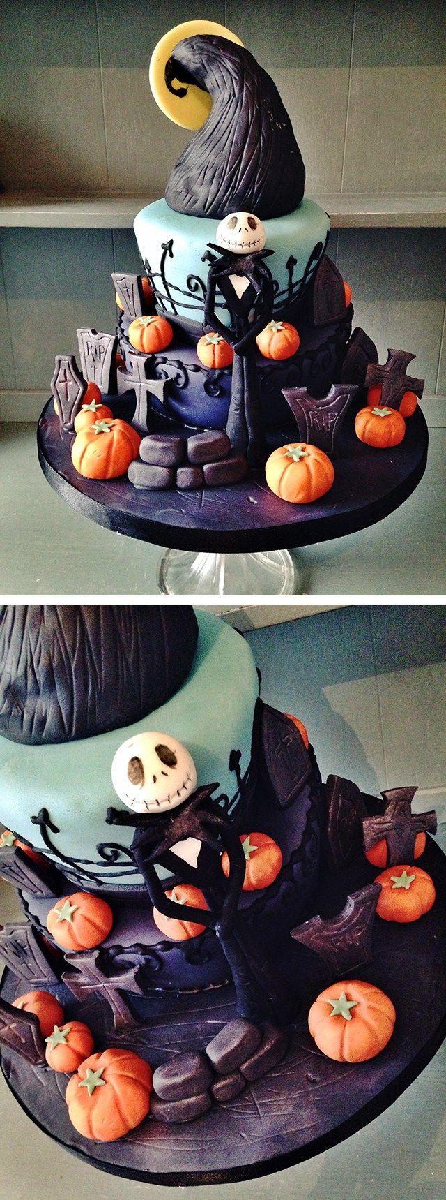 Jack Skellington Nightmare Before Christmas Halloween Cake
