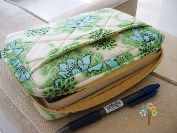 Zippered Book Cover Tutorial : Bible journal cover w zipper your choice of fabric