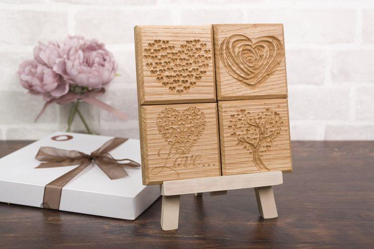 Mini oak plaques.  Personalised oak gifts www.iloveoak.co.uk