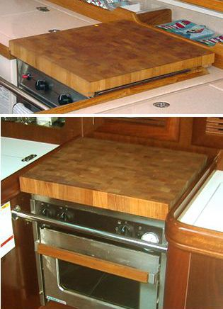 Custom made Cutting Board for boat/rv stovetops