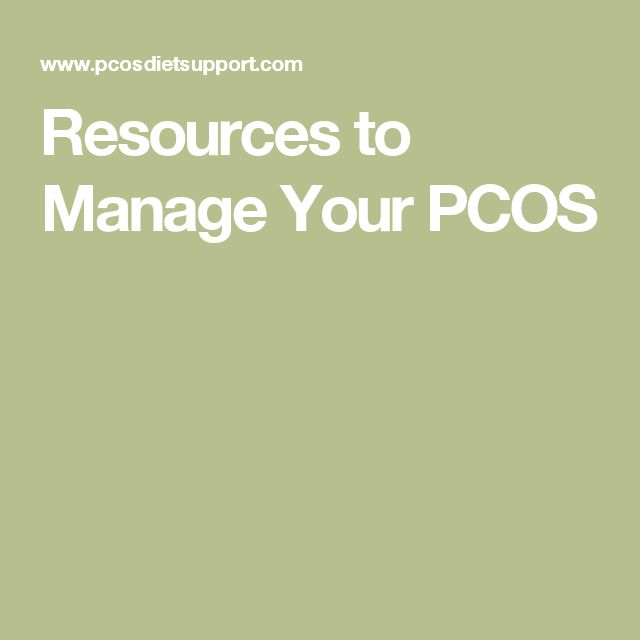 Resources to Manage Your PCOS