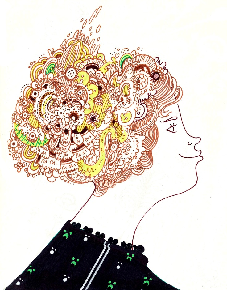 Female Profile. Ink on paper.    Adrián Cao. 2011