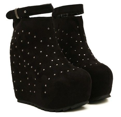 Studded platform wedge ankle boots | Wearables & Accessories ...