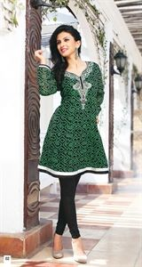 Show details for Lime Green and Black Kurti