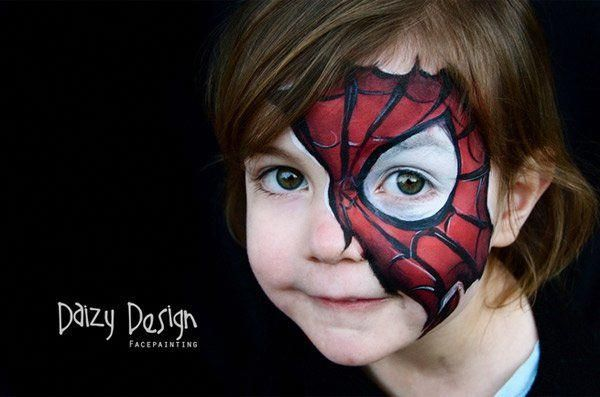 Modele De Maquillage D Enfant Spider Girl Face Painting Spiderman Face Face Painting Easy