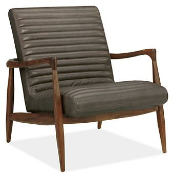 Callan Leather Chair Ottoman With Walnut Frame Chairs Living Room Board Form And Function Made In The Usa Pinterest Ottomans Liv