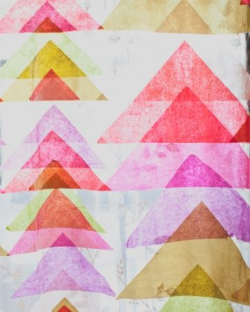 Layering Tissue Paper With Mod Podge