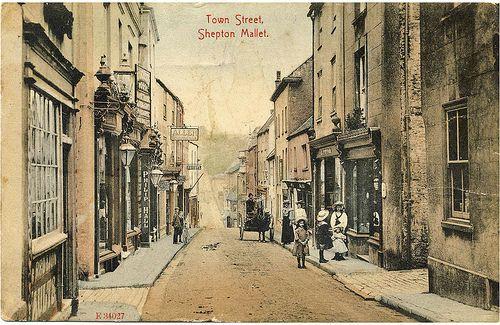 Town Street, Shepton Mallet, Somerset, England.