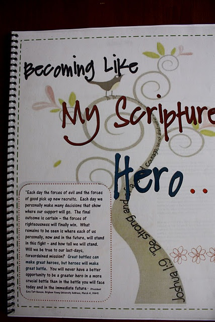 Scripture Hero Booklet - a guide to help youth study their scripture hero in-depth