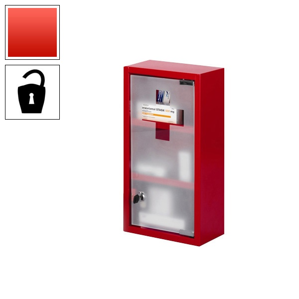 Medical First Aid Cabinet Red Stainless Steel Lockable First Aid Cabinetred Kitchen Accessoriesexhibition