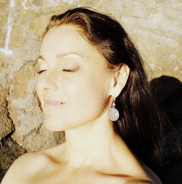 Andrea Gerak enjoying a sunbath