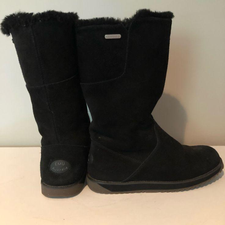 emu australia Shoes | Emu Australia Waterproof Shearling Boots | Color: Black | Size: 7