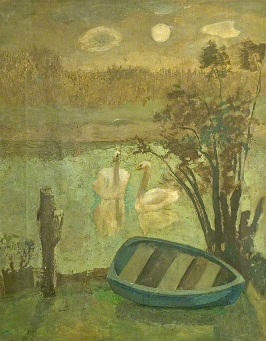 The Swans by Mary Potter, c1930, Derbyshire and Derby School Library Service