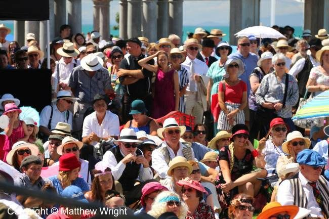 Crowds at the 2016 art deco weekend, Napier, New Zealand.