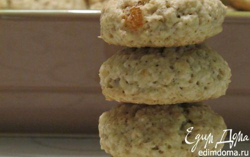Мягкое овсяное печенье с изюмом | Кулинарные рецепты от «Едим дома!»