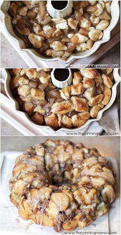 Apple Pie Monkey Bread Recipe | http://www.thepinningmama.com | #breakfast #easy