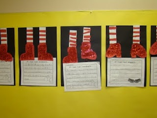 from blog   several ideas to use theme of Wizard of  Oz for classroom activities