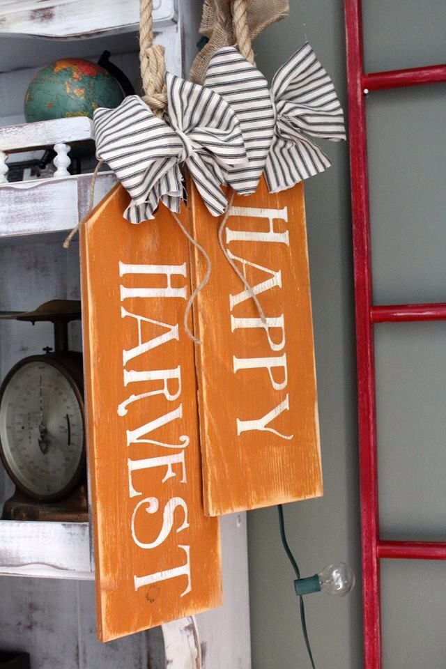 Our new Fall wooden door tags! Www.facebook.com/theruggedlittlecottage