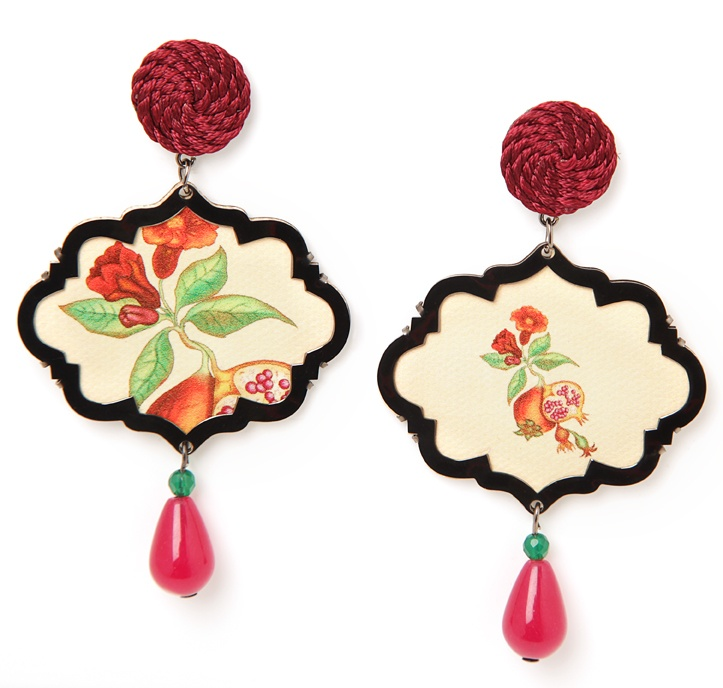 More from the Marco Polo collection....Persia...with the pomegranate...symbol of prosperity. www.annaealex.com