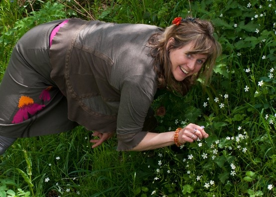 Promotional shot for Herbalist Julia Behrens. Photography by Lynda Kelly at Butterfly Portraits, Brighton.