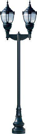 Dabmar DM-GM896-TOP-xxx GM896 Series Dark Sky Top Acorn Traditional Outdoor Lamp Post With Decorative Base DM-GM896