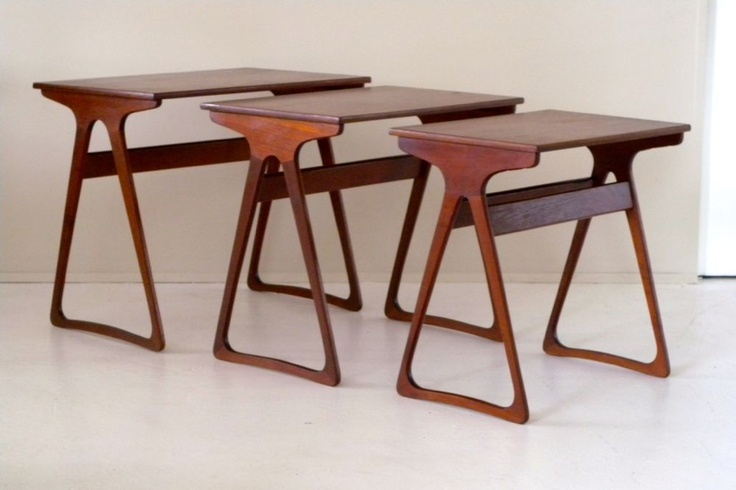 Set Of Teak Nested Table By Toften Mbler This Is