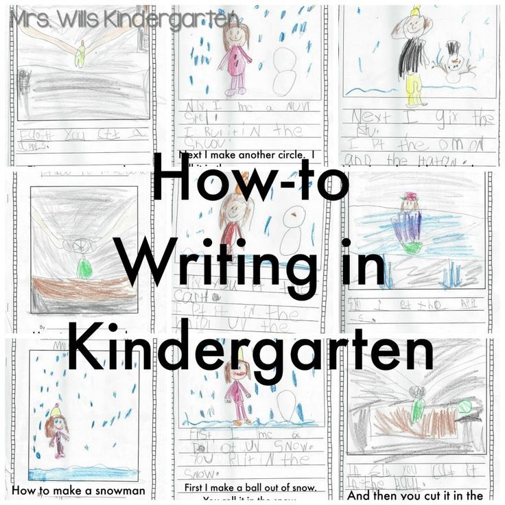 Writing instruction in Kindergarten can be overwhelming when you don't know where to start! Here's how I handle how-to writing in kindergarten with lots of examples!