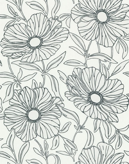 sherwin williams removable wallpaper this navy and white floral pattern would be cute in the. Black Bedroom Furniture Sets. Home Design Ideas