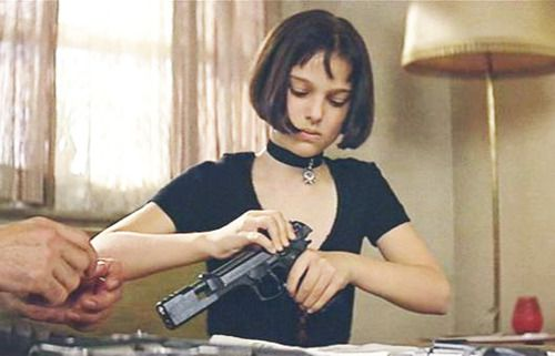 "<3 this movie! ""The Professional"" If you haven't seen it, you should. Natalie Portman was soo young. : )"
