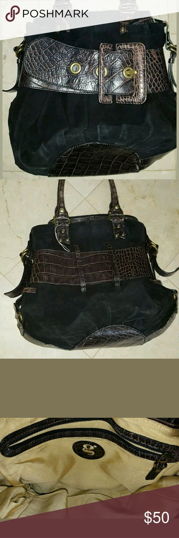 G. Series By Cole Haan Big Buckle Purse Handbag in very good condition   comes with bust bag   all offers will be considered! Cole Haan Bags Shoulder Bags