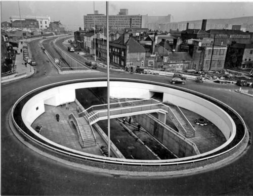 Furnival Gate Underpass, Sheffield 1968 #socialsheffield #sheffield