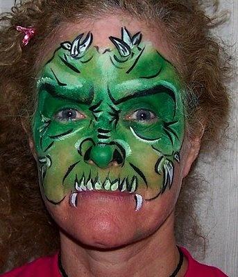 como hacer un maquillaje de monstruo | Aires de Fiesta